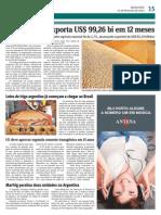 Agronegócio exporta 99326 BI em 12 meses