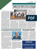 Argentina gera déficit de 1,4 bi ao Estado