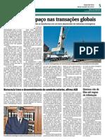 Brasil perde espaço nas transações globais