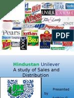 Sales and Distribution -Hindustan Uni Lever