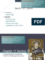 chapter 11 section 1 comparing the justinian code to contemporary law