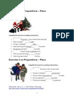 Prepositions Exercises