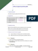 U8510 Software Upgrade Operation Guide