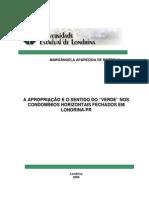 """Apropriação e o sentido do """"verde"""" nos condomínios horizontais fechados em Londrina – PR.pdf"""