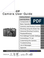 Canon PowerShot G9 Camera User Guide