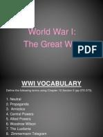 world war i 2012-2013
