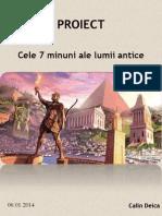 Istorie_Cele Sapte Minuni Ale Lumii