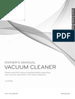Manual for LG LcV900B Vacuum