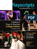 Playscripts, Inc. Catalog of Plays & Musicals College Edition