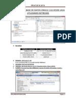 Acceso a Una Base de Datos Oracle 11g Desde Java Utilizando Netbeans