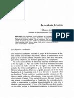 Marco Antonio Campos, La Academia de LEtrán, Revista de Literatura Mexicana