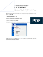 ómo instalar manualmente los adaptadores en Windows 7
