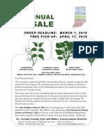 2009-2010 24th Annual St Joe Cty Swcd Tree Sale