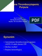Immunnknkke Thrombocytopenic Purpura.ppt