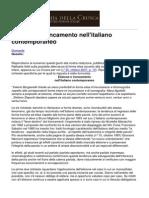 Accademia Della Crusca - Elisione e Troncamento Nell' italiano Contemporaneo - 2013-02-04
