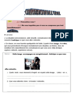 Methodologie Comprehension Oral Student's Worksheet