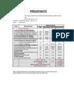 Presupuesto Recapeo 02 Canchas de Fronton
