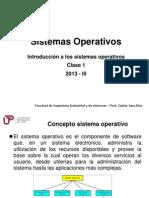 Semana1 Sistemas Operativos 2013 II
