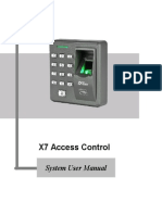 X7 Access Control System User Manual 20121101