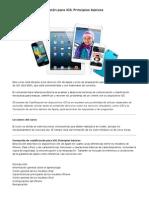 Formación de cualificación para iOS- Principios básicos