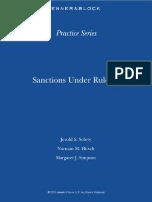 Sanctions 20Under 20Rule 2011-Complete 2010 | Complaint