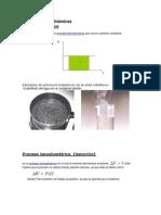 Procesos termodinámicos