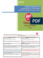 Cuadro Comparativo Reforma Laboral 2012-Ugt