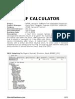 MTBF Calculator (Reliability Calculation System)
