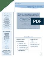 Newsletter - October 18, 2009