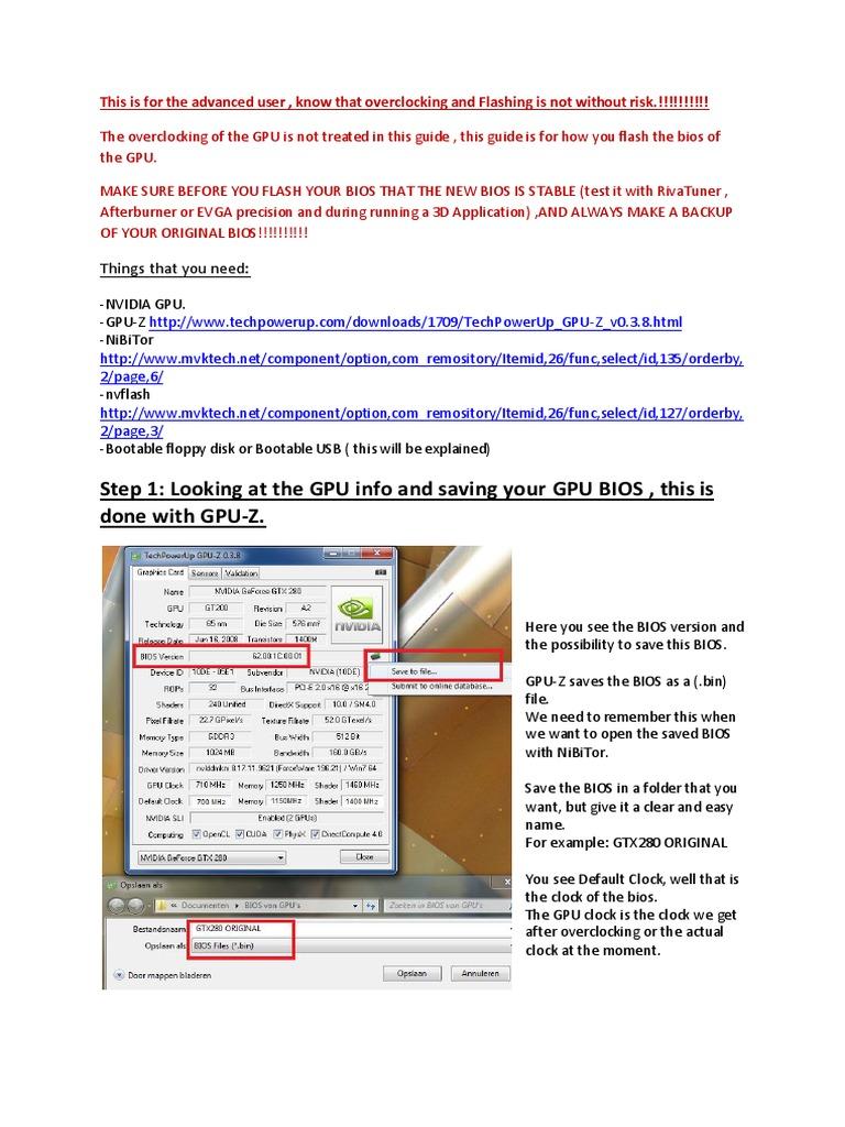 Guide Flashing Gpu Bios | Bios | Booting