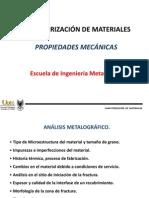 1 Caracterización Microestructural y Mecánica