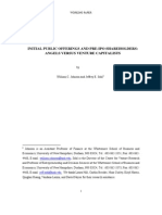 Initial Public Offerings and Pre-IPO Shareholders- Working Paper