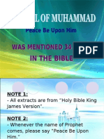 3) Muhammad (Pbuh) in the Bible