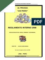 2008 Reglamento Interno s p