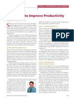 five steps to improve productivity
