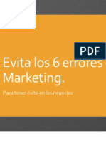 Evita Los 6 Errores de Marketing