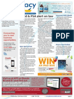 Pharmacy Daily for Wed 12 Mar 2014 - Guild and PSA alert on law, Sigma adopts MedAdvisor, New April prices, Pharmacy Daily at APP and much more