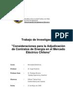 Consideraciones Para La Adjudicacion de Contratos de Energia PUC-CHILE