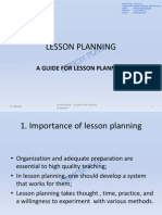 A Guide for Lesson Planning