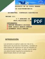 Sensoress de Peso, Velocidad y Ph