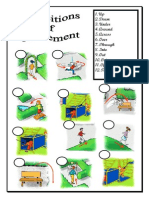Prepositions of Movement Match