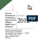 Diagnostico de genero Proyecto Mecansimos de participación 2012