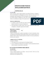 especificaciones ELECTRICAS