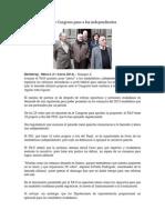 Abre congreso paso a los Independientes 11-03-14