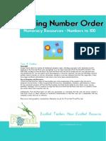 Spring Number Order Math Center Game Place Value