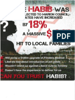Labor pamphlet attacking Liberal Candidate Carolyn Habib