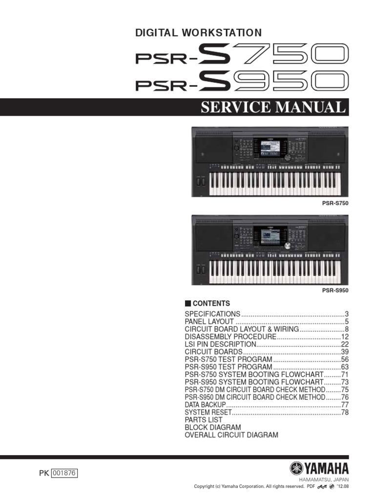 yamaha psr s950 s750 sm rh scribd com Yamaha PSR 9000 Yamaha PSR 9000 Simm