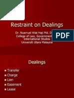 95272982 Restraint on Dealings