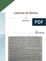 Cadenas de Markov Ejercicios