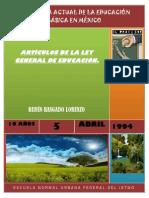 CAPITULOS DE LA LEY GENERAL DE EDUCACIÓN